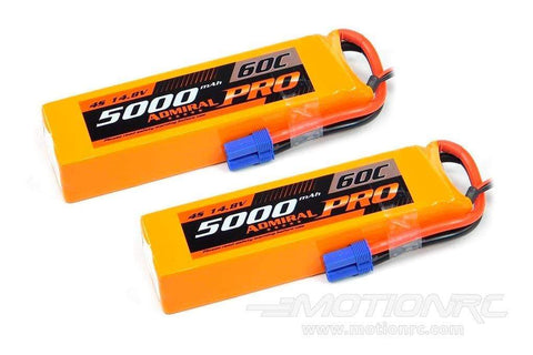 Admiral Pro 5000mAh 4S 14.8V 60C LiPo Battery with EC5 Connector Multi-Pack (2 Batteries) ADM6024-001