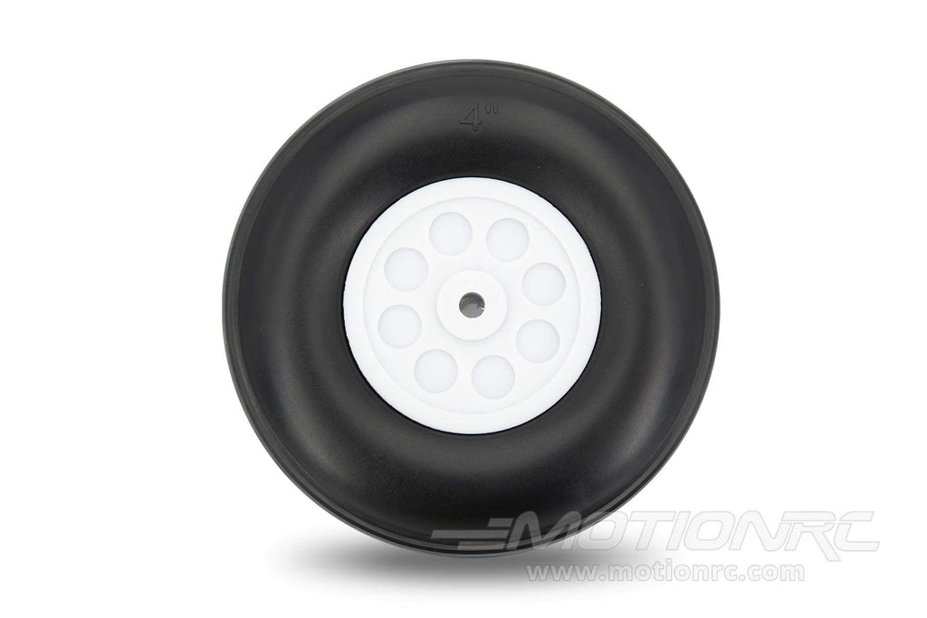 "BenchCraft 102mm (4"") x 28mm Treaded Foam PU Wheel for 5mm Axle BCT5016-065"