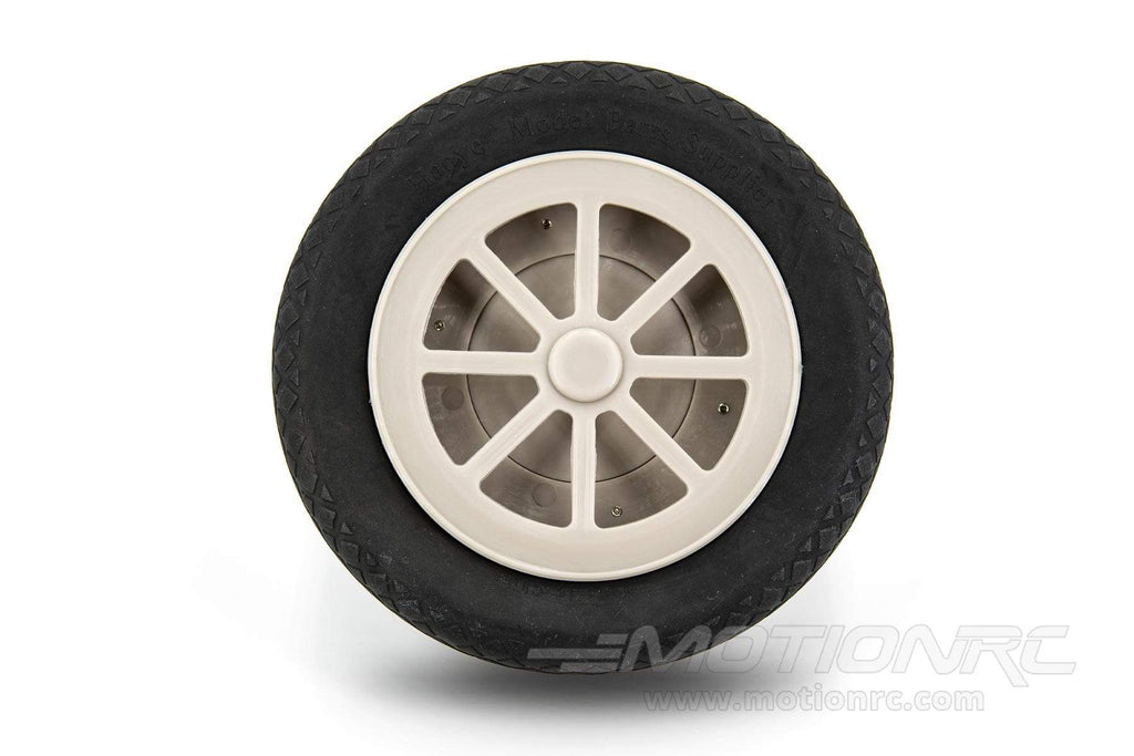 "BenchCraft 127mm (5"") x 43mm Hollow Rubber Wheel for 6mm Axle BCT5016-038"