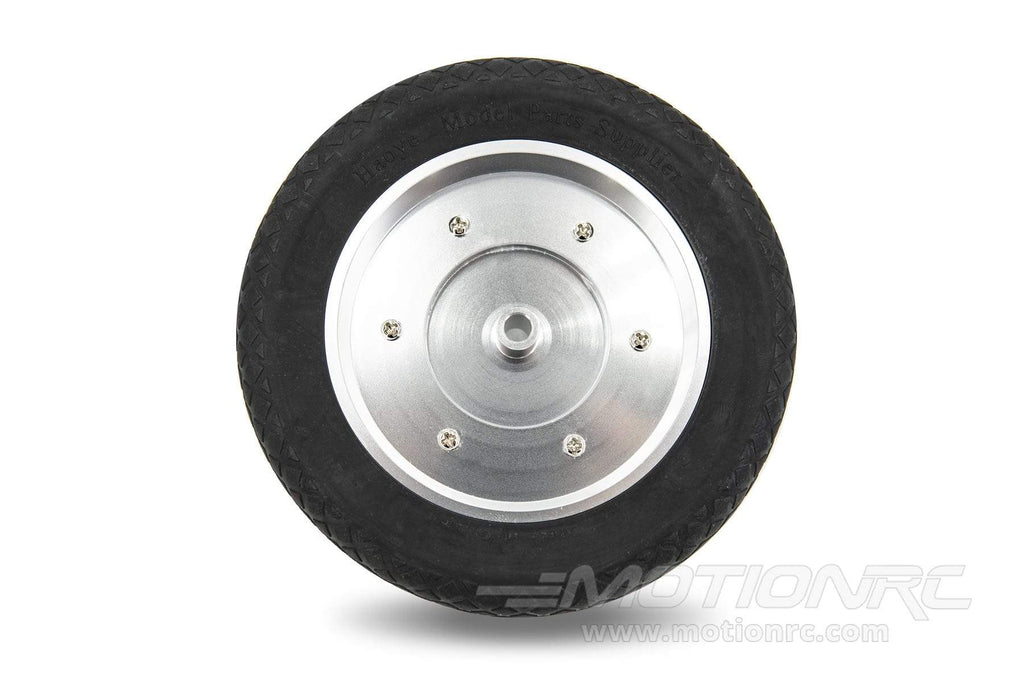 "BenchCraft 127mm (5"") x 43mm Solid Rubber Wheel w/ Aluminum Hub for 6mm Axle BCT5016-043"