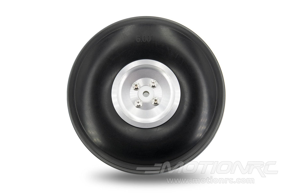 "BenchCraft 152mm (6"") x 54mm Treaded Foam PU Wheel w/ Aluminum Hub for 6mm Axle BCT5016-094"