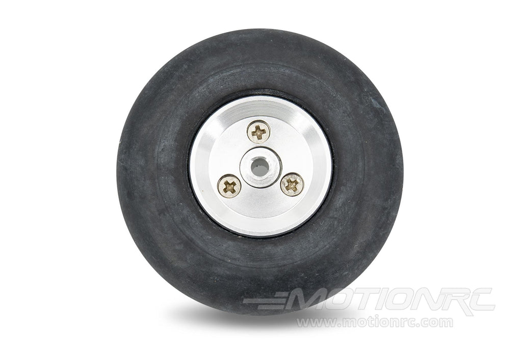 "BenchCraft 48mm (1.9"") x 15mm Solid Rubber Wheel w/ Aluminum Hub for 3mm Axle BCT5016-048"