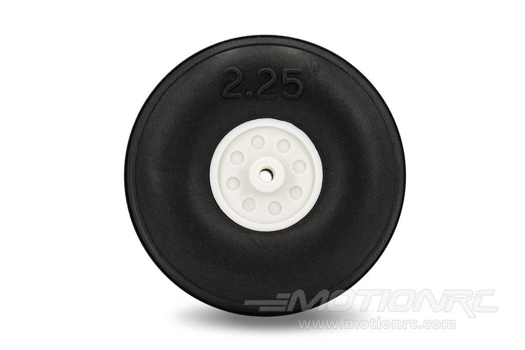 "BenchCraft 57mm (2.25"") x 21mm Treaded Ultra Lightweight Rubber PU Wheel for 2.6mm Axle BCT5016-076"