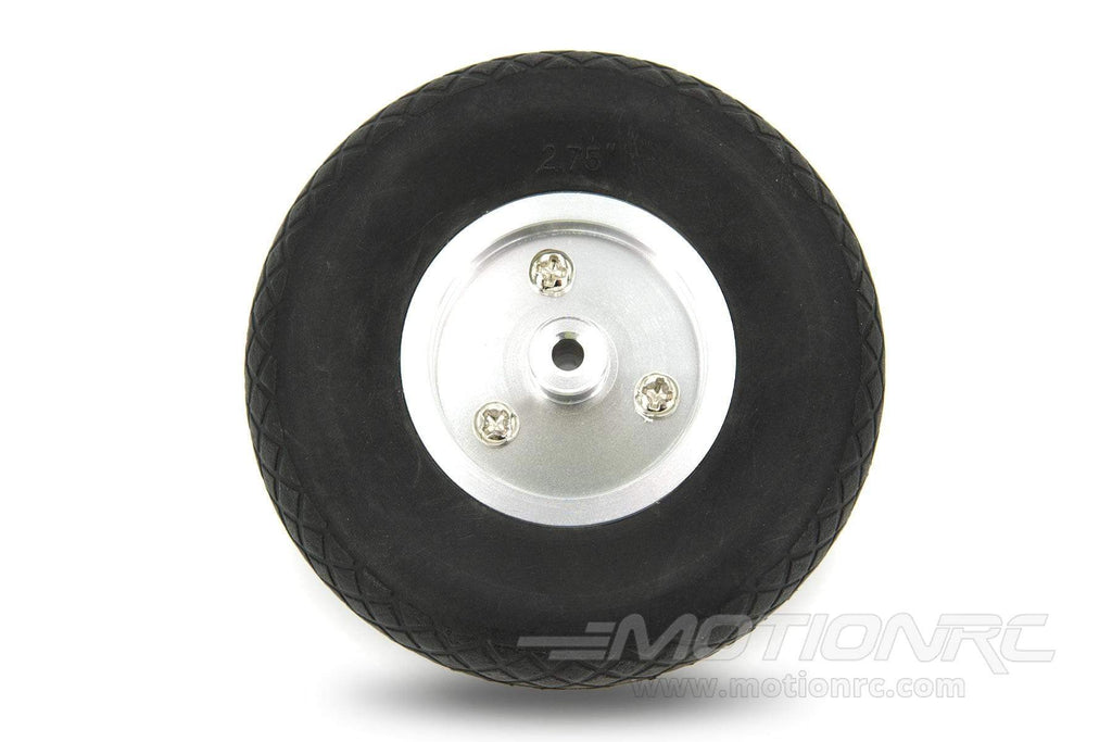"BenchCraft 70mm (2.75"") x 23mm Solid Rubber Wheel w/ Aluminum Hub for 3.5mm Axle BCT5016-040"