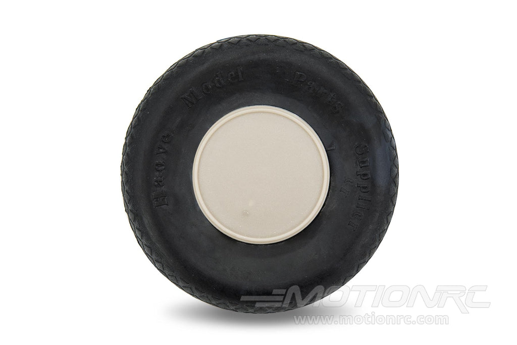 "BenchCraft 76mm (3"") x 23mm Hollow Rubber Wheel for 3.5mm Axle BCT5016-036"