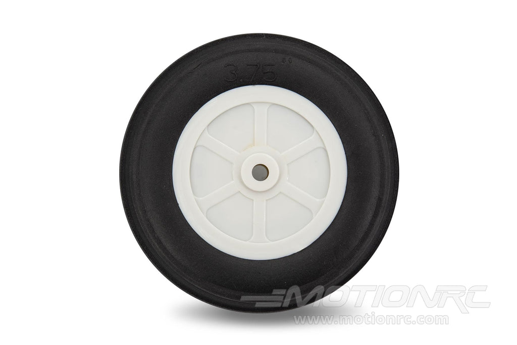 "BenchCraft 95mm (3.75"") x 31mm Treaded Ultra Lightweight Rubber PU Wheel for 5.1mm Axle BCT5016-081"