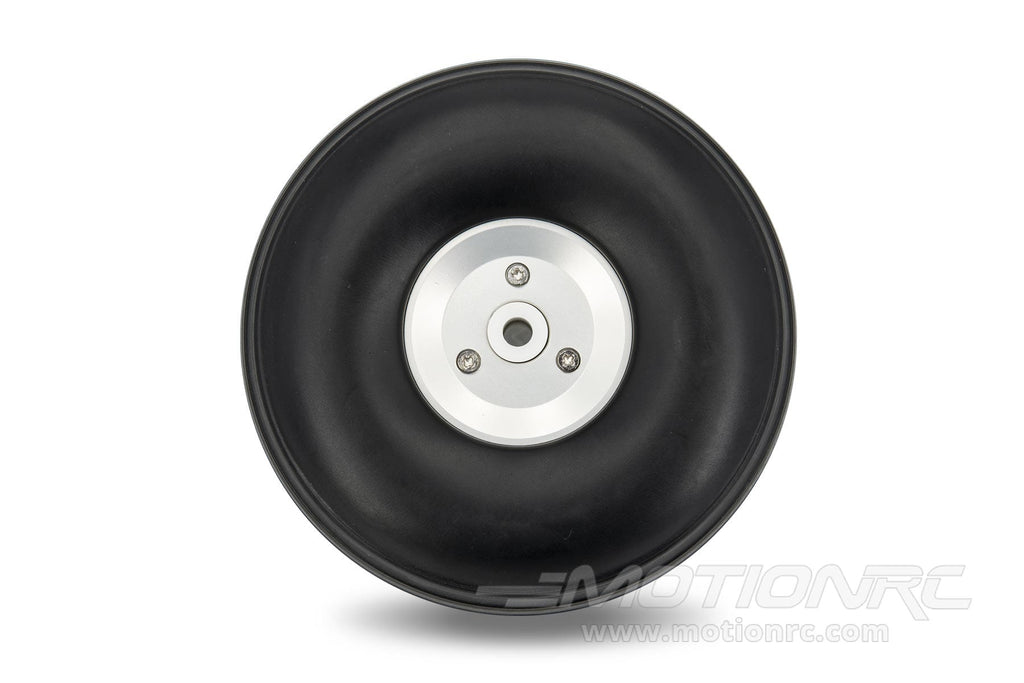 "BenchCraft 95mm (3.75"") x 34mm Treaded Foam PU Wheel w/ Aluminum Hub for 5mm Axle BCT5016-091"