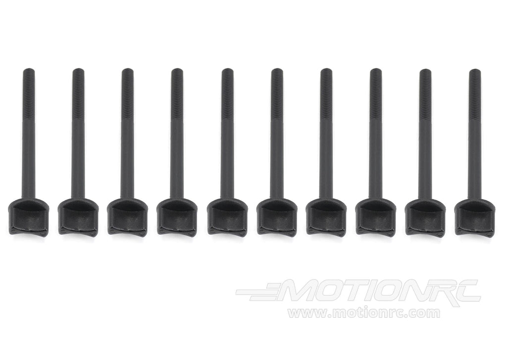 BenchCraft M6 x 75mm Nylon Thumb Screws - Black (10 Pack) BCT5040-002