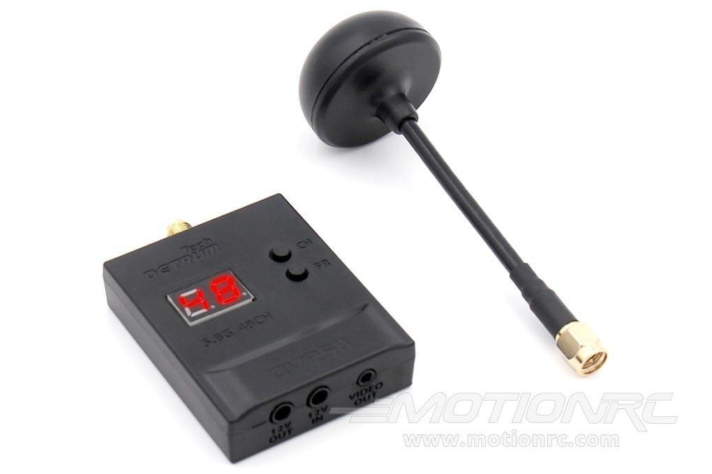 Detrum 5.8G 48CH FPV Video Receiver with Antenna DY-DTM-DVR58-1