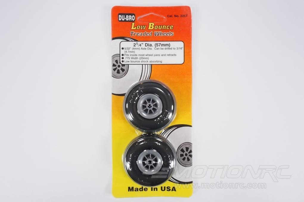 "Dubro Low Bounce Treaded Wheels 57.1mm / 2.25"" (2 Pack) DUB225T"