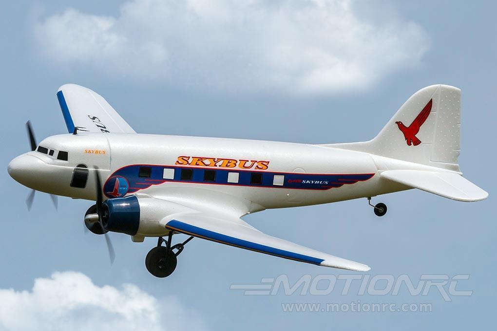 "Dynam DC-3 Skybus White with Gyro 1470mm (58"") Wingspan - RTF DY8931SRTF-WHITE"