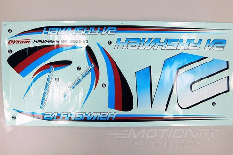 Dynam Hawk Sky V2 Decal Sheet DY-HAWKV2-12