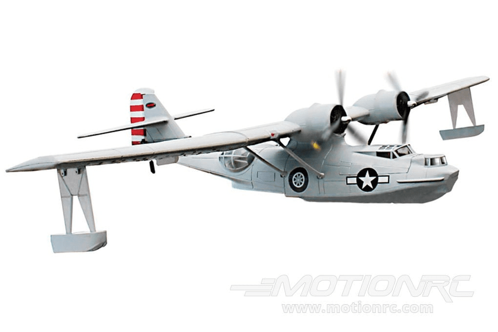 "Dynam PBY Catalina Grey with Gyro 1470mm (58"") Wingspan - RTF DY8943SRTF-GREY"