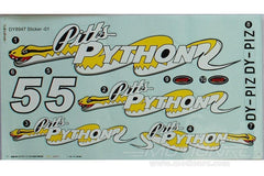 Dynam Pitts Model 12 Decal Sheet DY-PITTS-12