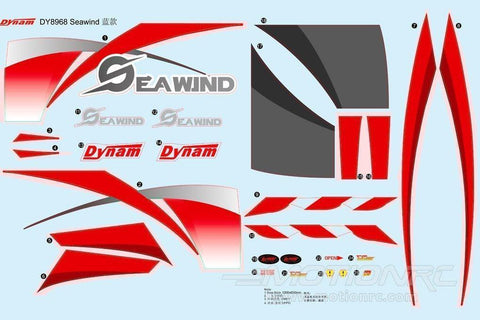 Dynam Seawind Decal Sheet - Red DY-SWD-15-RED