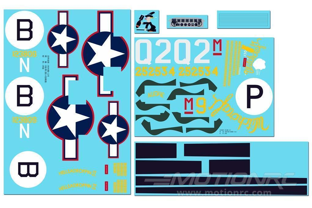 FlightLine 2000mm B-24 Liberator Decal Sheet - Olive Drab FLW40107