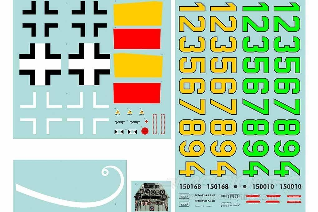 FlightLine Focke-Wulf Ta 152H Decal Sheet FLW20507