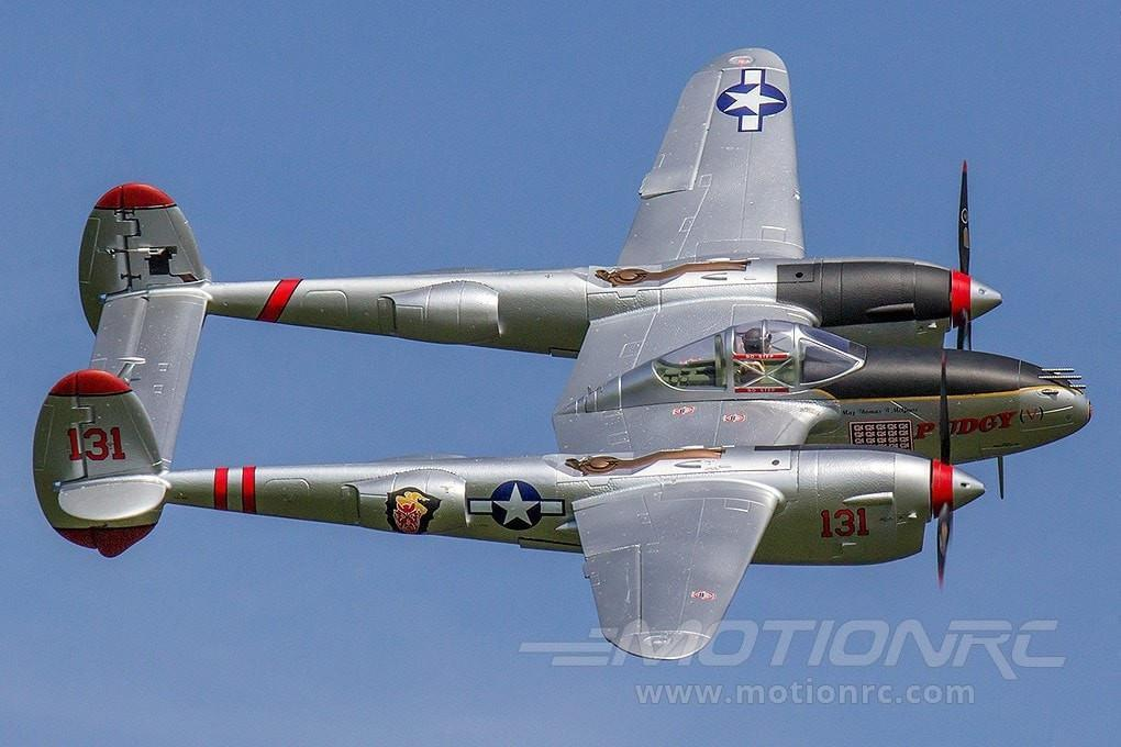 "FlightLine P-38L Lightning ""Pacific Silver"" 1600mm (63"") Wingspan - PNP - SCRATCH AND DENT FLW3011P(SD)"