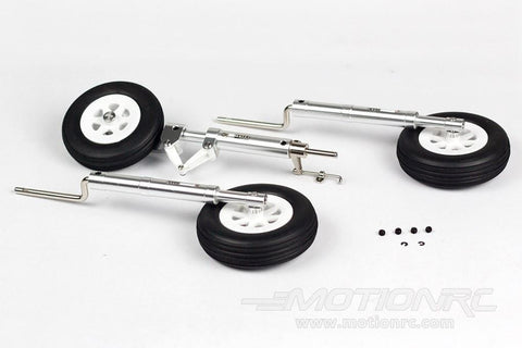 FlightlineRC P-38 Complete Shock Absorbing Strut and Tire Set FLW301089