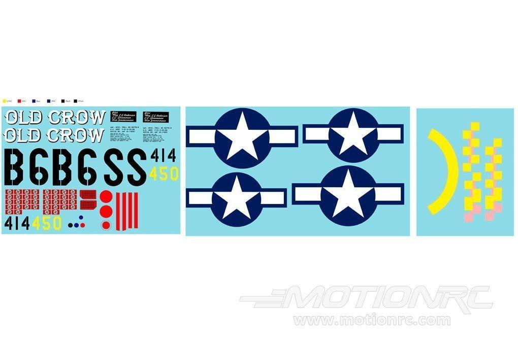 Freewing 1410mm P-51D Decal Sheet - Old Crow FW3012107