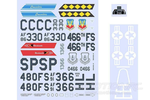 Freewing 70mm EDF F-16 Decal Sheet FJ2111107