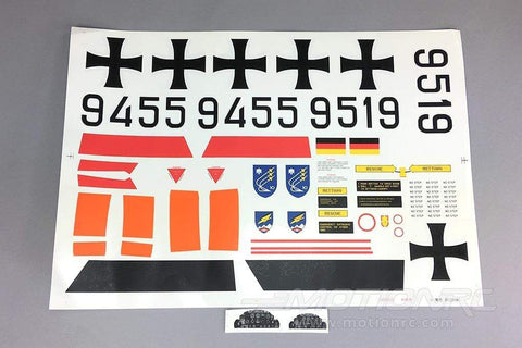 Freewing 80mm EDF T-33 Decal Sheet - German FJ2172107