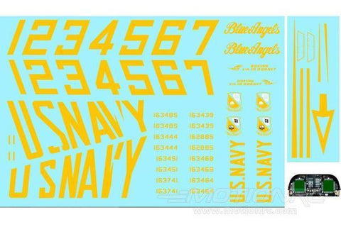 Freewing 90mm EDF F / A-18C Hornet Decal Sheet - Blaue Engel FJ3141107