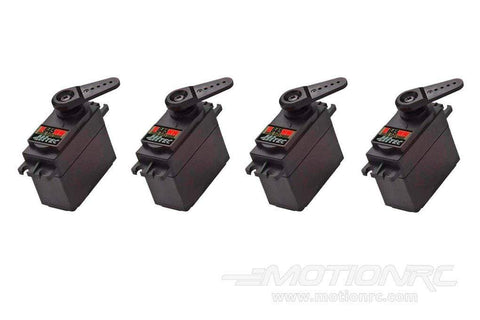 Hitec D-645MW High Voltage High Torque Digital Metal Gear Servo Airplane Multi-Pack (4 Servos) HRC6005-017