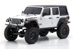 Kyosho Mini-Z 4x4 Jeep Wrangler Unlimited Rubicon Bright White 1/18 Scale 4WD Truck - RTR KYO32521W-B