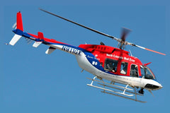 Roban B407 Red/White/Blue 700 Size Scale Helicopter - ARF RCH-BE407RBW7