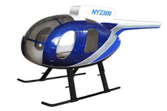 Roban MD-500D Police Blue 600 Size Helicopter Scale Conversion - KIT RBN-KF500DPB6