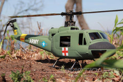 RotorScale UH-1A Huey Medic Green 450 Size Helicopter - PNP RSH0003P