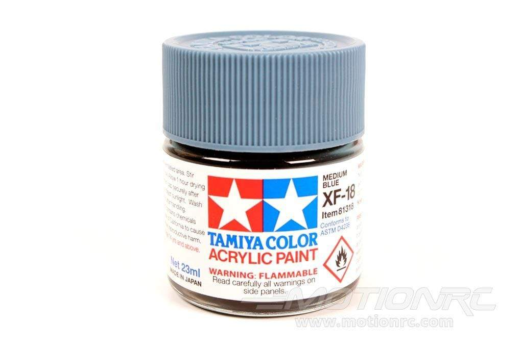 Tamiya Acrylic XF-18 Medium Blue 23ml Bottle TAM81318