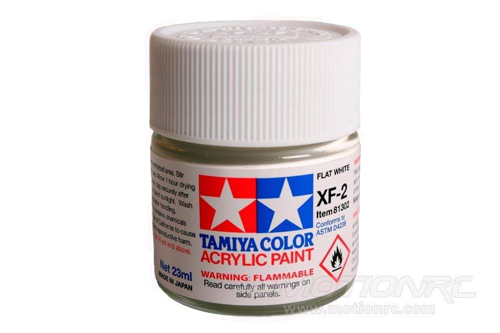Tamiya Acrylic XF-2 Flat White 23ml Bottle TAM81302