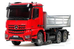 Tamiya RC Mercedes Benz Arocs 3348 6x4 Red 1/14 Scale Dump Truck - KIT TAM56361