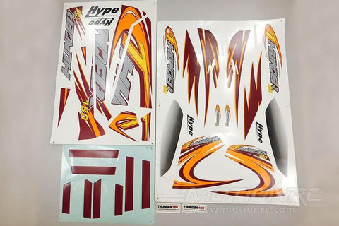 TechOne Thunder Decal Sheet - Orange TEC088112O