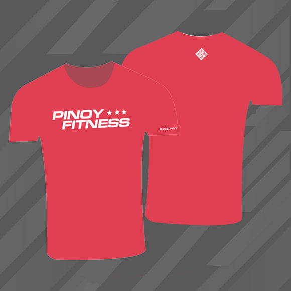 Pinoy Fitness Basics - Red Cotton T-Shirt