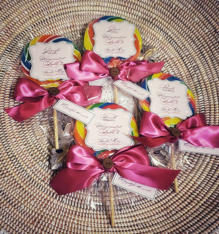 INVITE-U: Lollipop Favors (sets of 24 or 50 - Can be used for Weddings, Events, Parties)