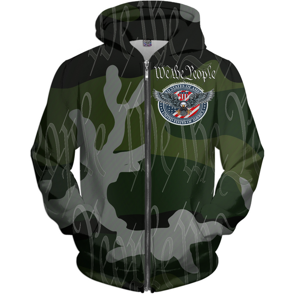 We The People Hoodie Camo