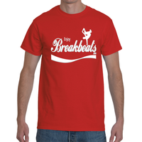 EnjoyBreakBeats White w/ Gray Men's Short Sleeve T-Shirt