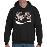 EnjoyHouseMusic White w/ Red Logo Adult Hooded Sweatshirt