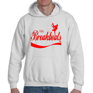 Enjoy Break Beats Red Logo Adult Hooded Sweatshirt