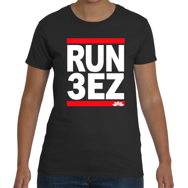 Run Three Eazy. Peace, Love & Light Women's Short Sleeve T-Shirt