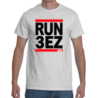 Run Three Eazy. Peace, Love & Light Men's Short Sleeve T-Shirt