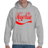 EnjoyHouseMusic Red Logo Adult Hooded Sweatshirt