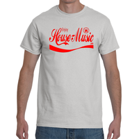 EnjoyHouseMusic Red Logo Men's Short Sleeve T-Shirt