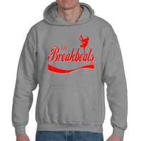 EnjoyBreakBeats Red Logo Adult Hooded Sweatshirt