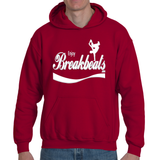 EnjoyBreakBeats White w/ Grey Logo Adult Hooded Sweatshirt