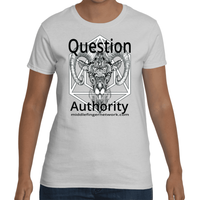 "MiddleFingerNetwork.com Women's Short Sleeve T-Shirt ""Question Authority"""