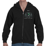 Lotus Flower Power GeoMeTricks B&W Adult Men's Hooded Zip